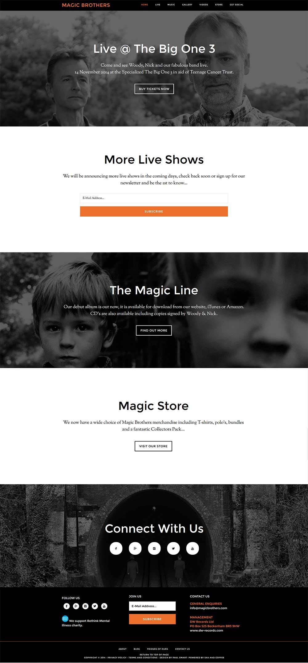Portfolio Magic Brothers Homepage