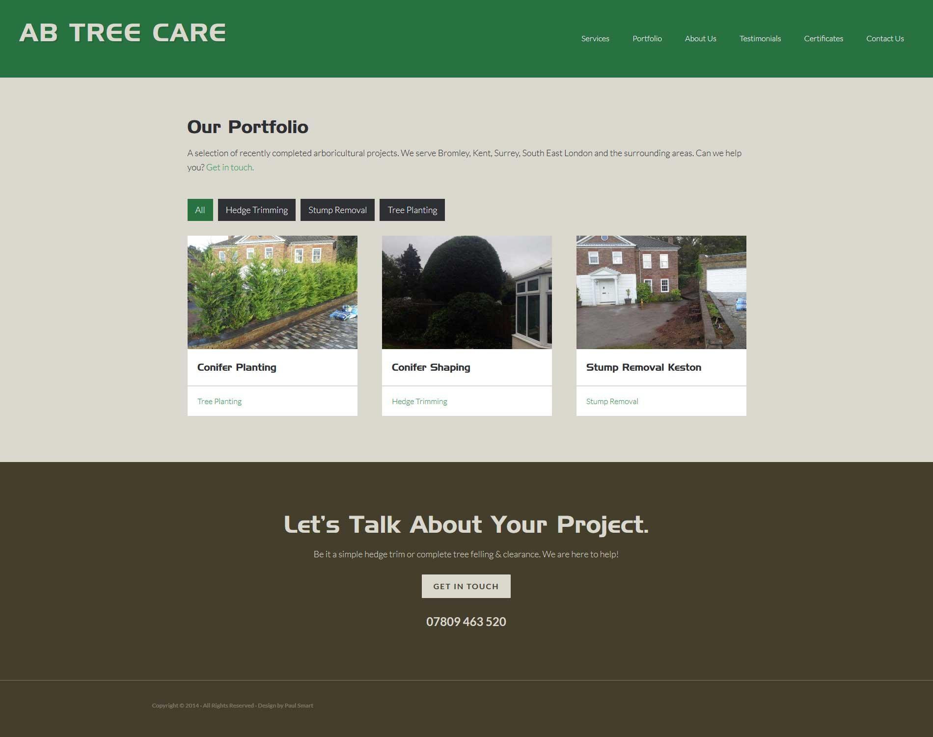 Portfolio AB Tree Care Portfolio
