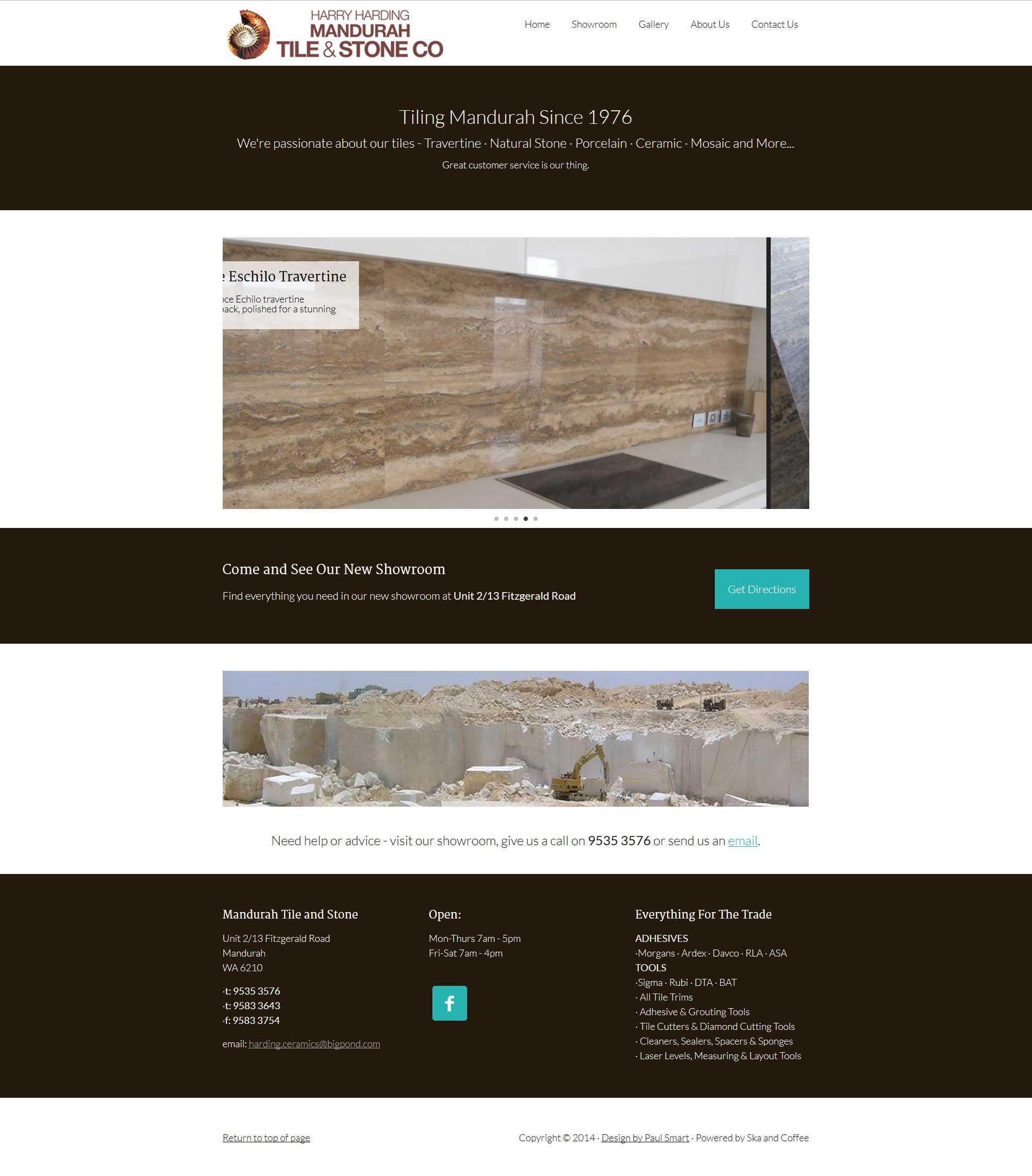 Portfolio Mandurah Tile Stone Homepage